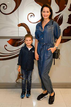 Ольга Кабо с сыном Виктором